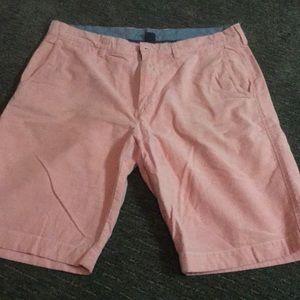 Men's salmon pink jcrew club shorts